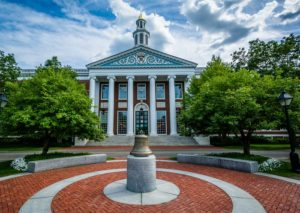 The Baker Library at Harvard Business School in Boston